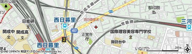 東京都荒川区西日暮里5丁目3周辺の地図