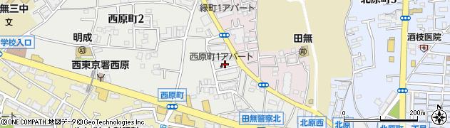 都営西原一丁目団地周辺の地図