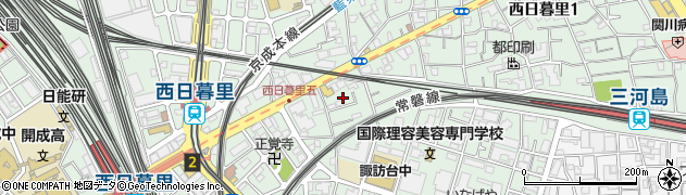 東京都荒川区西日暮里5丁目2周辺の地図