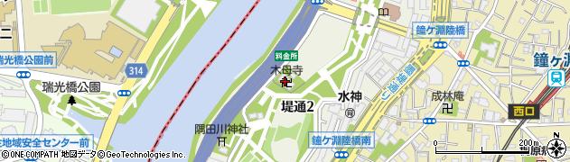 梅若塚木母寺周辺の地図