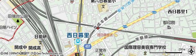 東京都荒川区西日暮里5丁目28周辺の地図