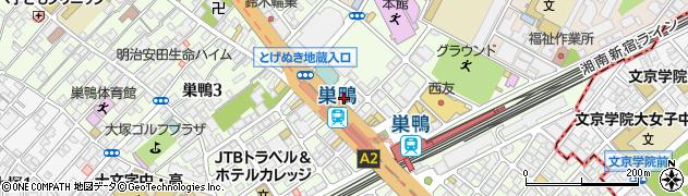 HAPPYHAPPY 巣鴨店周辺の地図