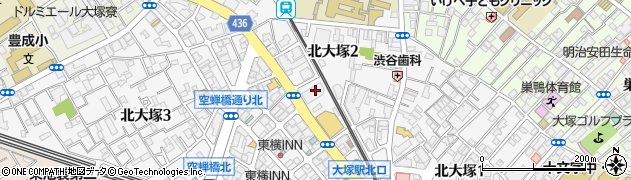 東京都豊島区北大塚2丁目24-5周辺の地図