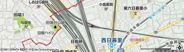 東京都荒川区西日暮里5丁目37周辺の地図