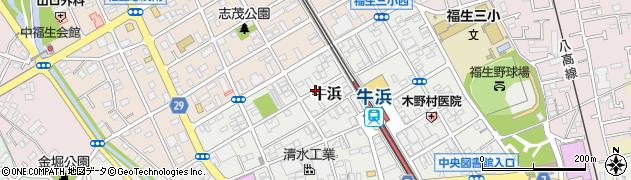 東京都福生市牛浜周辺の地図