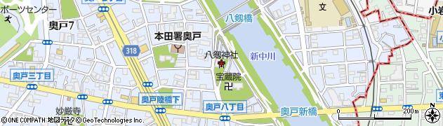 八劒神社周辺の地図