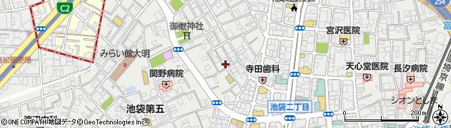 東京都豊島区池袋周辺の地図