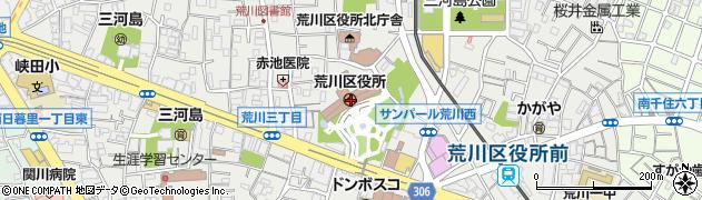 東京都荒川区周辺の地図
