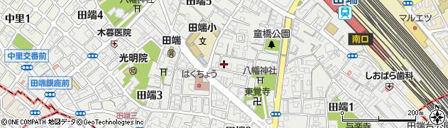 東京都北区田端周辺の地図