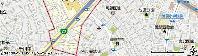 東京都豊島区池袋3丁目周辺の地図