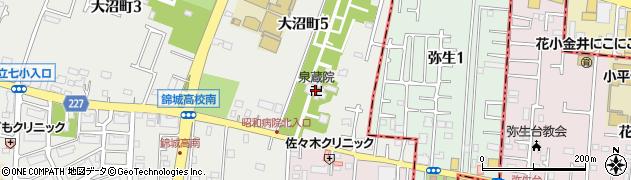 泉蔵院阿弥陀堂周辺の地図