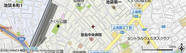 東京都豊島区上池袋周辺の地図