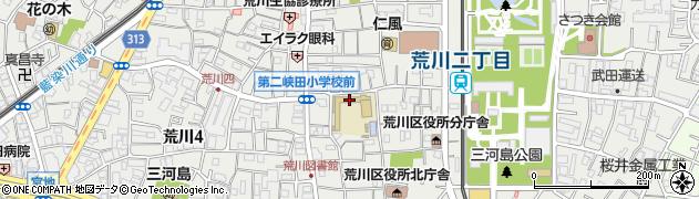 東京都荒川区荒川周辺の地図