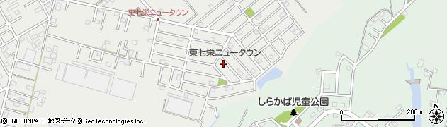 千葉県富里市七栄周辺の地図