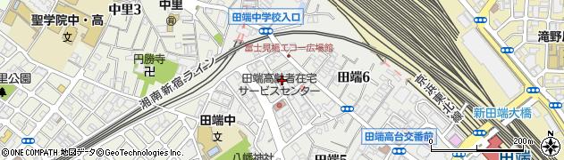 東京都住宅供給公社田端住宅周辺の地図