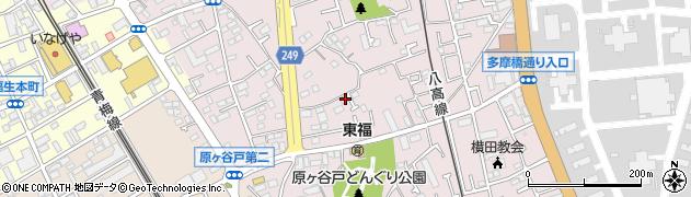 東京都福生市福生周辺の地図