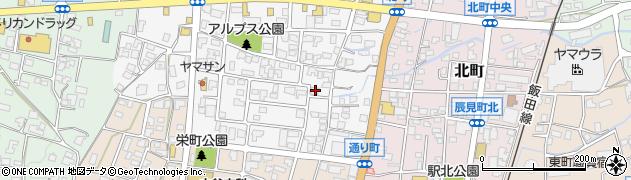 長野県駒ヶ根市上穂北周辺の地図
