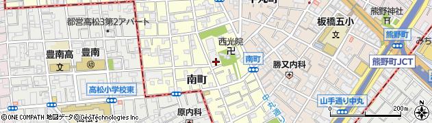 東京都板橋区南町周辺の地図