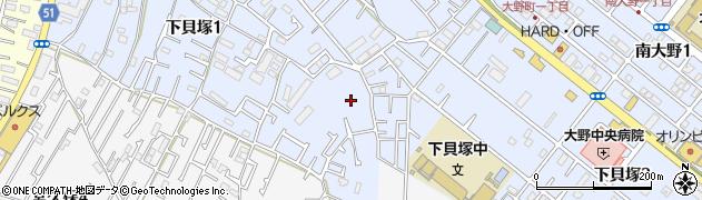 千葉県市川市下貝塚1丁目2周辺の地図