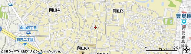 東京都練馬区向山周辺の地図