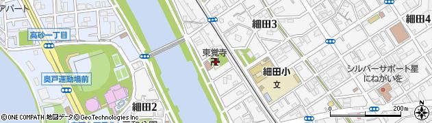 東覚寺周辺の地図