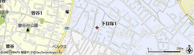 千葉県市川市下貝塚1丁目13周辺の地図