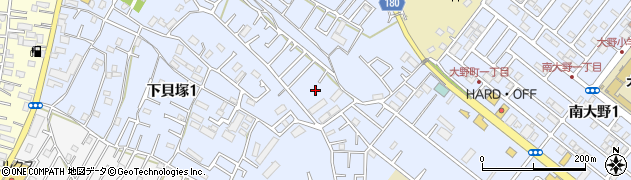 千葉県市川市下貝塚周辺の地図