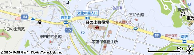 東京都西多摩郡日の出町周辺の地図