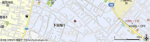 千葉県市川市下貝塚1丁目5周辺の地図