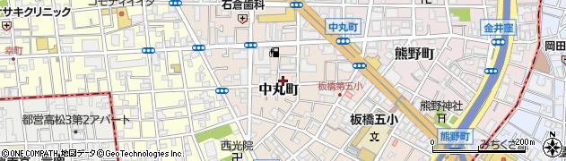 東京都板橋区中丸町周辺の地図