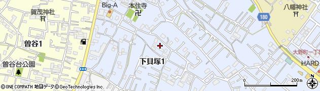 千葉県市川市下貝塚1丁目9周辺の地図