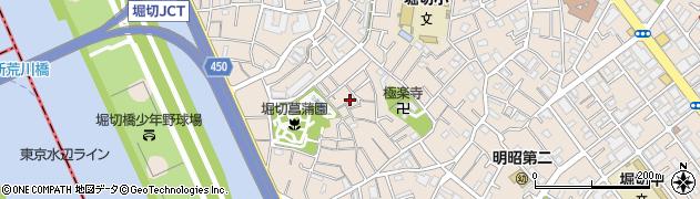 東京都葛飾区堀切周辺の地図