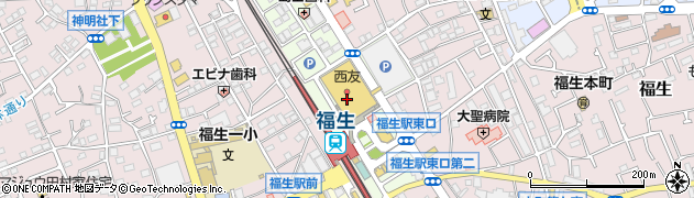 東京都福生市東町周辺の地図