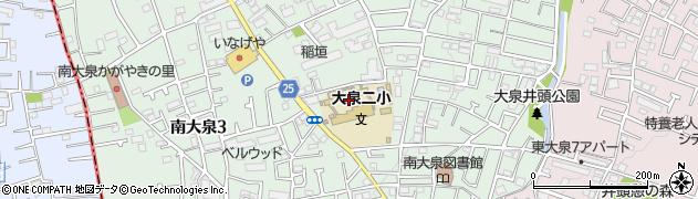 東京都練馬区南大泉周辺の地図
