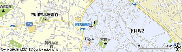 千葉県市川市下貝塚1丁目19周辺の地図