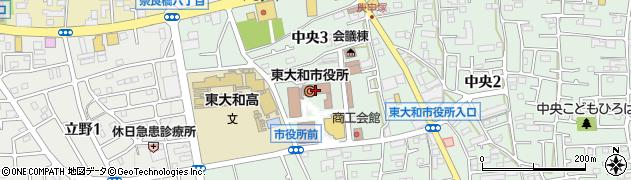 東京都東大和市周辺の地図