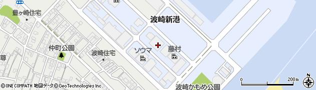 茨城県神栖市波崎新港周辺の地図