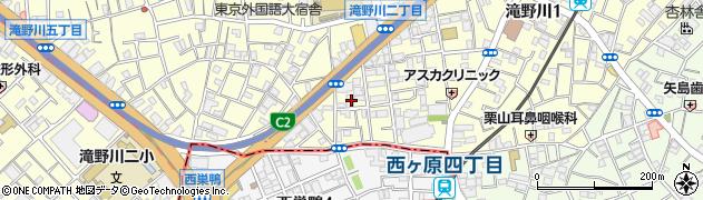 東京都北区滝野川1丁目90周辺の地図