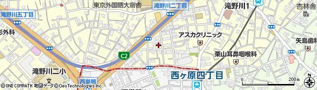 東京都北区滝野川1丁目90-15周辺の地図