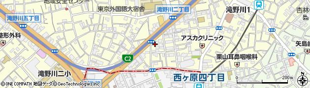 東京都北区滝野川1丁目90-8周辺の地図