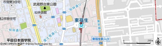 東京都福生市周辺の地図
