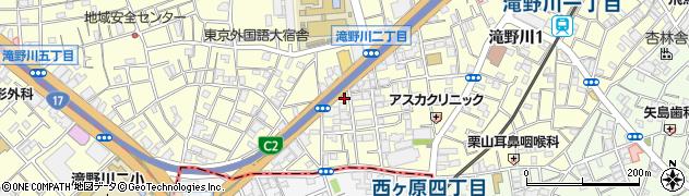 東京都北区滝野川1丁目90-11周辺の地図