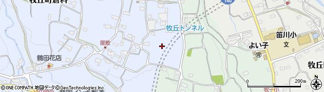 牧丘トンネル周辺の地図