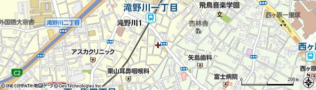 東京都北区滝野川1丁目28周辺の地図