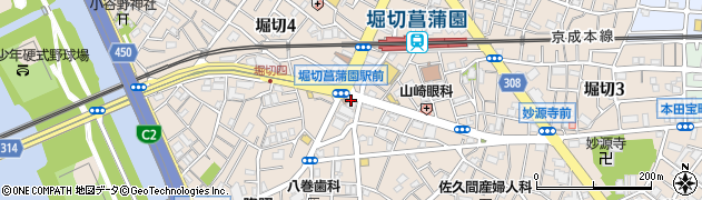 オリジン弁当 堀切菖蒲園店周辺の地図
