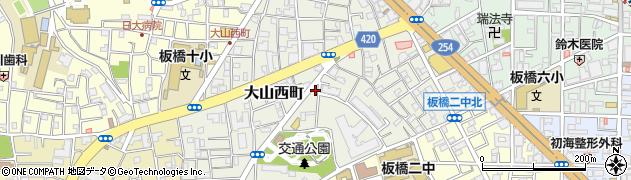 東京都板橋区大山西町周辺の地図