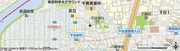 東京都足立区千住宮元町周辺の地図