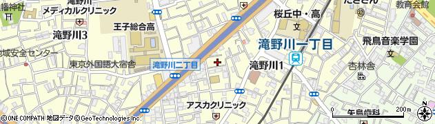 東京都北区滝野川1丁目73周辺の地図