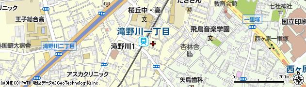 東京都北区滝野川1丁目22周辺の地図