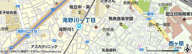東京都北区滝野川1丁目16周辺の地図